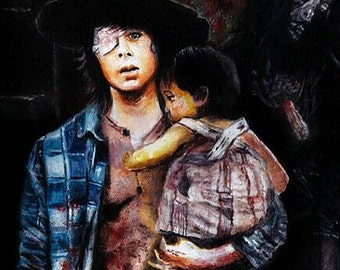 The Walking Dead Carl Grimes Limited Edition Art Print