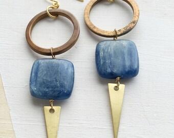 Kyanite Geometric Earrings | E11611