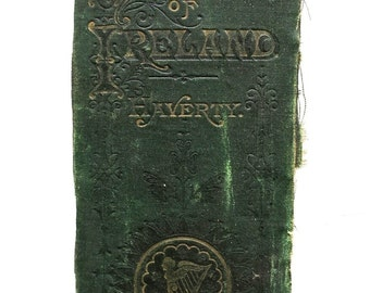 One Antique Book Spine 1800's