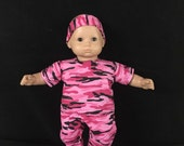 Doll Clothes for American Girl Bitty Baby or Bitty Twin Dolls Most 15 Inch Dolls Military Pink Camouflage Outfit