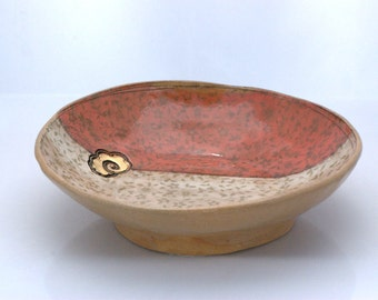 Large ceramic bowl, rustic large serving bowl,  Handmade pottery, OOAK pottery - READY to SHIP