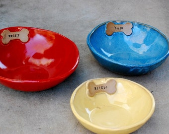 Custom Water Bowl - Dog Water Bowl - Pet Water Bowl - Ceramic Water Bowl - Pet Bowl - Ceramic Bowl - Personalized Bowl