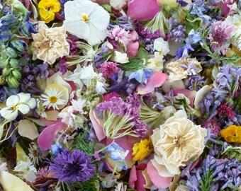 Wedding Confetti, Dry Flowers, Centerpiece, Table, Aisle Decor, Flower Girl, Dry Petals, Craft Supplies, Wedding Decor, 1 Box of Confetti