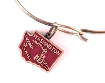 Washington State Love Charm Bracelet or Necklace