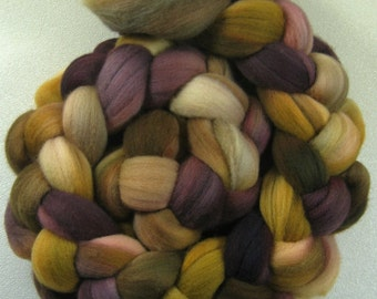 Mums Dark merino wool top for spinning and felting (4.1 ounce)