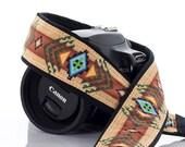 Camera Strap dSLR or SLR, Tribal, Southwestern, dslr camera strap,Native American Inspired, Canon camera strap, Nikon camera strap,  2 e