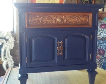 Hollywood Regency Nightstand Vintage Poppy Cottage PAINT to ORDER Painted Furniture