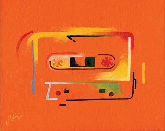 Ode to the Cassette Era 3 (original painting)