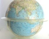 Vintage World Globe Oversized National Geographic Blue Globe Office Decor Large School Globe