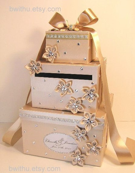Wedding Gift Box Etsy : Wedding Card Box Champagne Gift Card Box Money Box