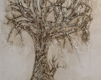 Tree Sculpture Wall Decor Tree ArtMixed Media