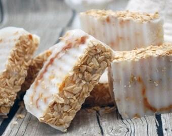 Oatmeal & Honey Swirl Soap - Handmade Scented Soap