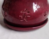Large Orchid Pot Planter With Chinese Symbols