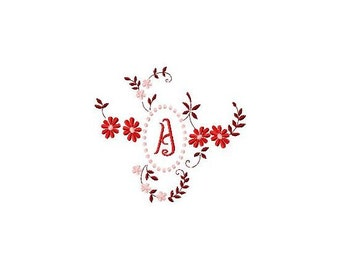 INSTANT DOWNLOAD Monograms Machine Embroidery Designs Set # 53