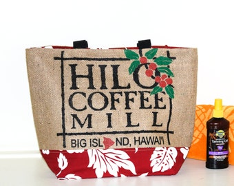 Large Tote - Hilo Coffee Mill Recycled Tote Bag