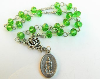 St. Peregrine Car Prayer Chaplet Rosary 1- Patron Saint of Cancer Patients