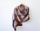 Bohemian SAMPLE SALE scarf Floral scarf scarves scarf hand printed hand dyed wholesale natural dye Linen/Silk Fashion Accessories - KALAM