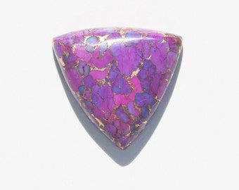 Kingman Purple Turquoise Infused with Bronze  Cabochon