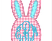 SAMPLE SALE ---Girl EASTER Bunny Shirt with Monogram -Free Personalization!!!