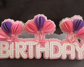 Balloon Bunch Card Cutting files, All file formats offered