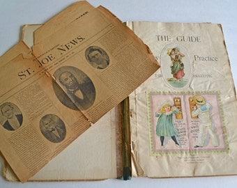 Antique Victorian-Edwardian Era Handmade Scrapbook