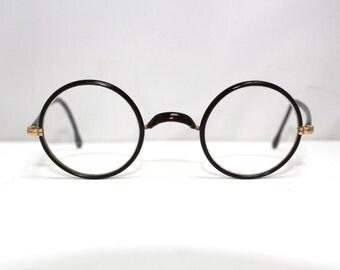 Rare1930s 40s Eyeglasses / round lens Great Gatsby era