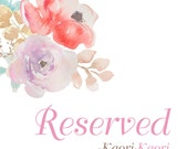 Reserved Order For Nicci Only