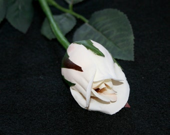 12 Vanilla Princess Rose Buds - Barely Blooming - Artificial Flowers, Silk Roses - PRE-ORDER