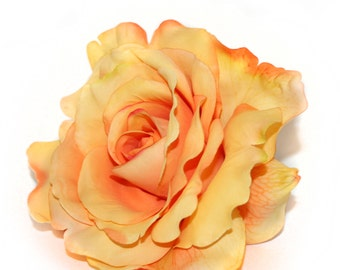 Light Orange Georgia Rose - Artificial Flowers, Silk Flower Heads - PRE-ORDER