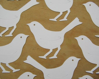 White Card Stock Die Cut Birds Shape - White Card Birds Cut Outs - Paper Bird Shapes - Card Toppers - Paper Bird Die Cut Shape