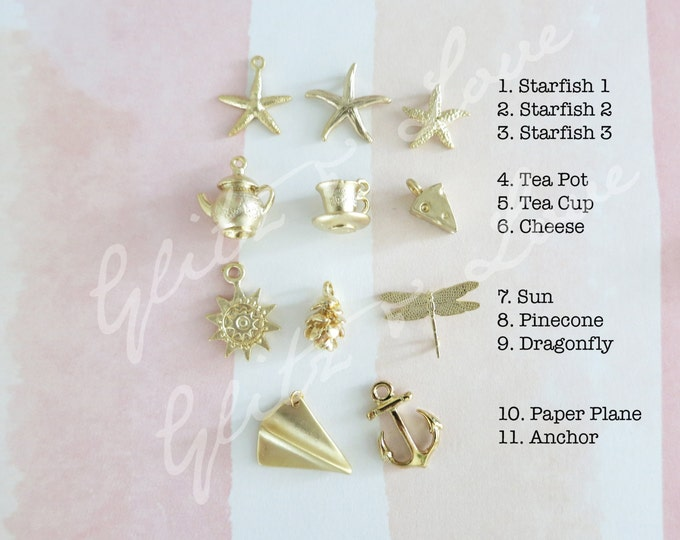 Add a Charm - Bird, starfish, tea cup, tea pot, dargonfly, anchor, acorn, autumn, summer, spring, Personalised, silver rose gold