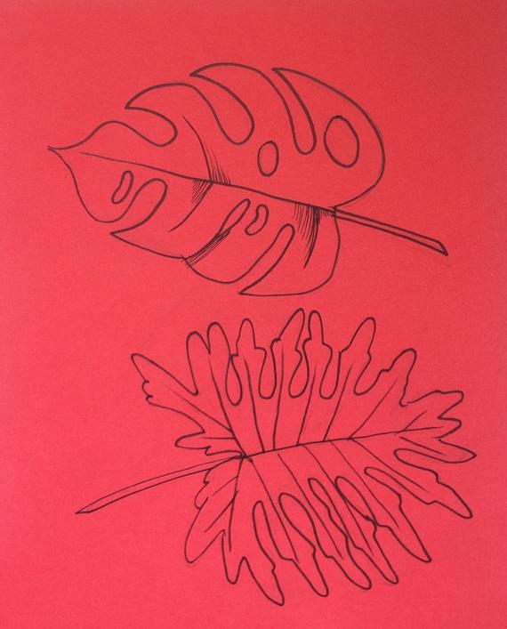 minimalist ink print: Fronds