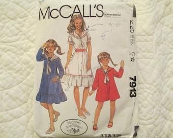 McCall's 7913, Laura Ashley Dress Pattern, size 8