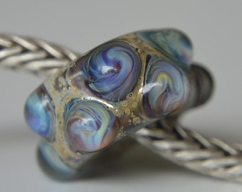 SALE - Unique Handmade Lampwork Glass European Charm Bead - SRA - fits all charm bracelets - Silver Core Options available