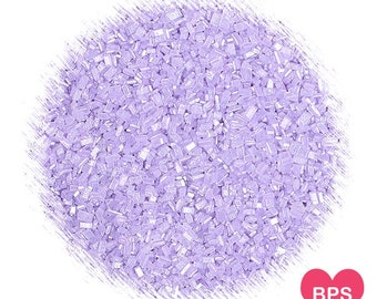 Shimmer Light Purple Sparkling Sugar, Light Purple Sugar, Sugar Crystals, Wedding Sprinkles, Baby Shower Sprinkles, Coarse Sugar Crystals