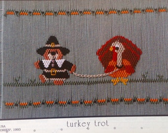 "Little Memories ""turkey trot"" smocking plate"