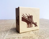 New York Landmark Stamp/ Brooklyn Bridge Stamp/ Hand Carved or Rubber Stamp/