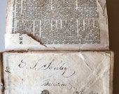 Antique, 1840, miniature Bible with inscription