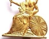 ROYAL NORFOLK REGIMENT World War 2 Royal British Army infantry regiment Britannia Cap Badge