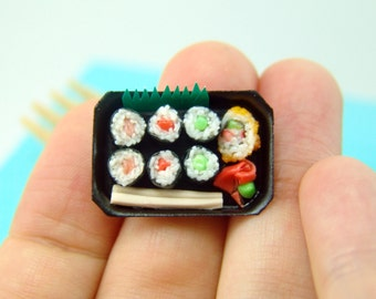 Polymer Clay Food // Dollhouse Miniature Sushi Set // 1:12 Scale Dollhouse Miniature