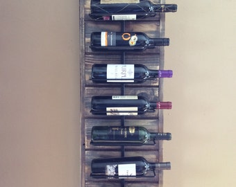 Wall wine Rack rustic