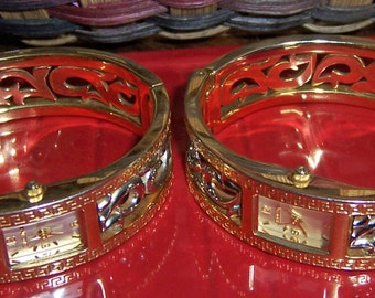 2 Ladies Elgin Gold tone and Silver tone Metal Watches, Japan Movement, Jewelry Repair or Repurpose Supplies