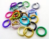 "18g 3/16"" ID Jump Rings (x100) - 24 Colors - Anodized Aluminum"
