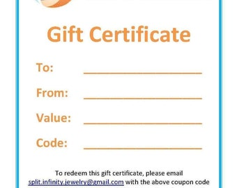 Gift Certificate - Custom Value