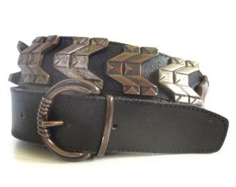 Vintage Landrex France Riveted Metal Belt