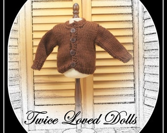 Sweater for BOY doll (or girl!) 18 inch dolls - American Girl, Magic Attic, Our Generation, etc