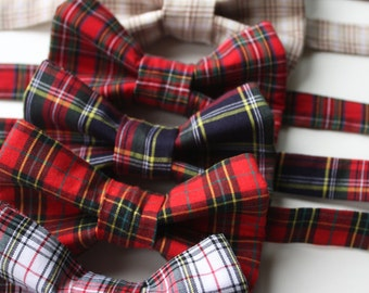 Little and Big Guy HOLIDAY CHRISTMAS Bow Tie - Christmas Plaid Collection - (Newborn-Adult) - (Newborn-Adult) - Baby Boy Toddler Teen Man