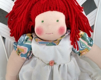 16 inch Waldorf doll with red hair