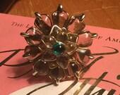 signed Tory Burch huge vintage floral ring