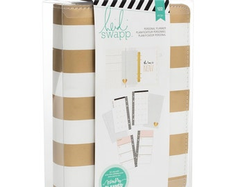 SALE Heidi Swapp Personal Memory Planner (IN STOCK) Gold Foil Stripe Planner • Free Washi Tape with this order (312596)